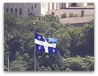 La bandera de Québec, cortesía de la webcam de la CBC en Montreal