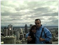 Con Moni en la 1era foto desde el mirador del Mont-Royal
