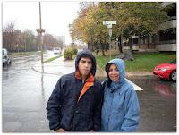 Mauri y Moni apenas llegamos en otra salida un día lluvioso