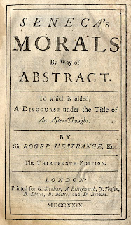 Title page from Seneca's Morals