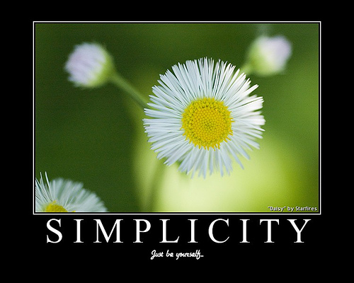 complexity within simplicity Mastering the complexity of simplicity  you must find the courage within yourself to trust that the life you want is more important than peer approval (hint - it.