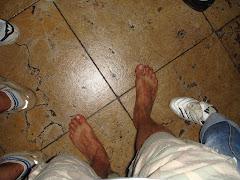 mes pieds nus