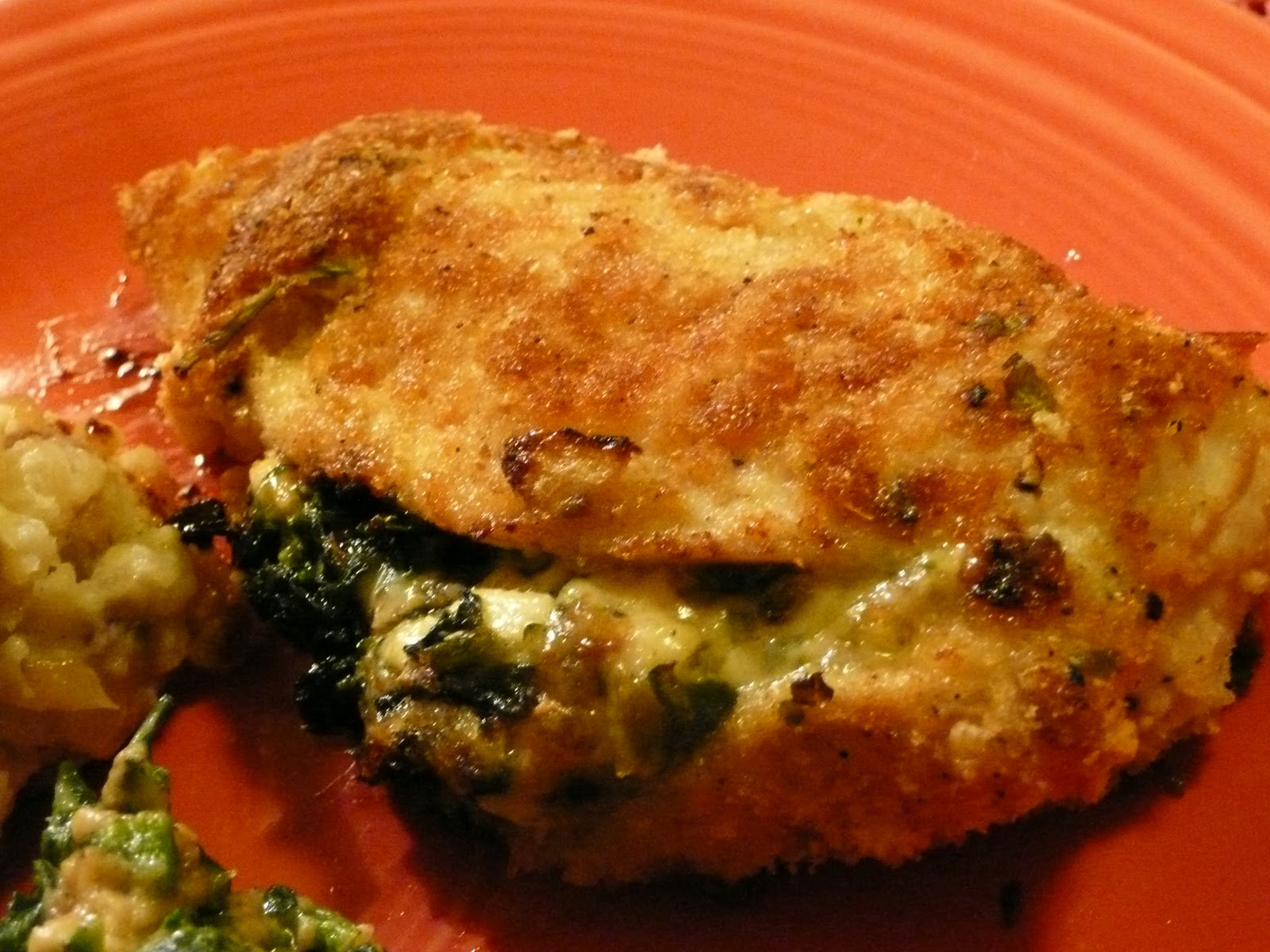 FROM A WRITER'S KITCHEN: Cheese and Spinach Stuffed Chicken Breasts