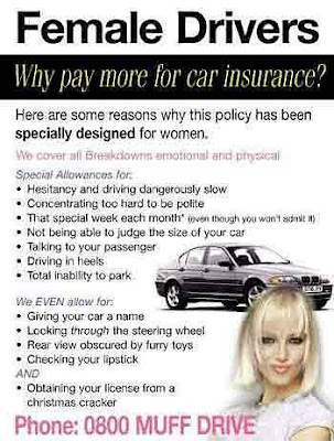 funny humour picture-car insurance for women