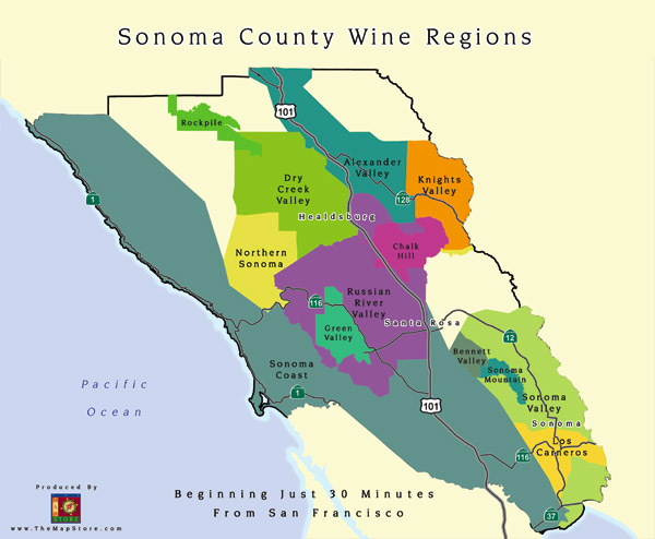 An Old Alexander Valley Cabernet Sometimes Its Better To Drink - Map of all us avas