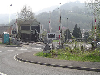 Railway signal box at Risca 2