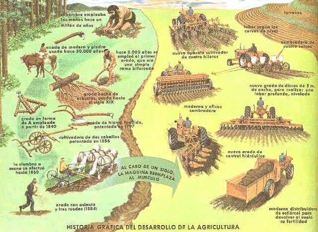 historia grafica del desarrollo de la agricultura