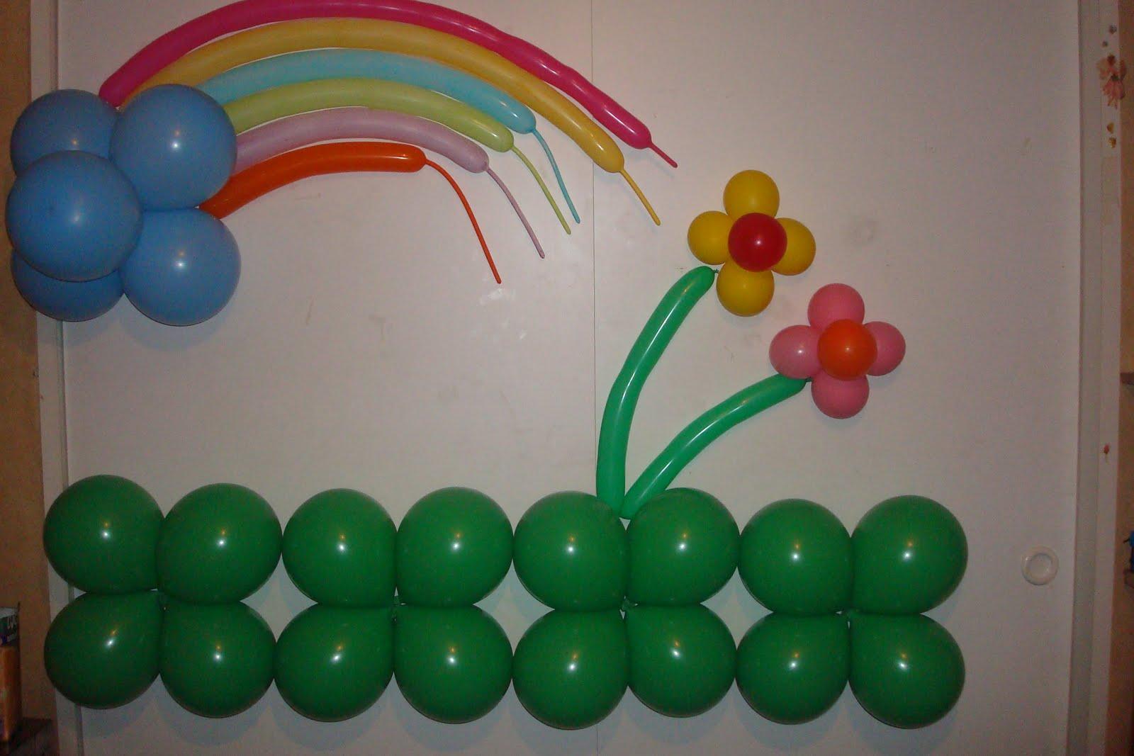 Decoracion con globos para bautizo angeles y arco - Arreglos con globos para boda ...