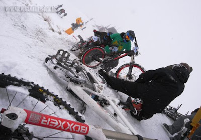 mountain bikes snow race Coronet Peak Queenstown