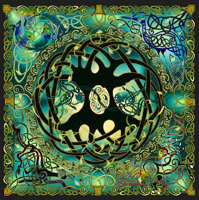 painting entitled Celtic Tree of Life, by Jen Delyth