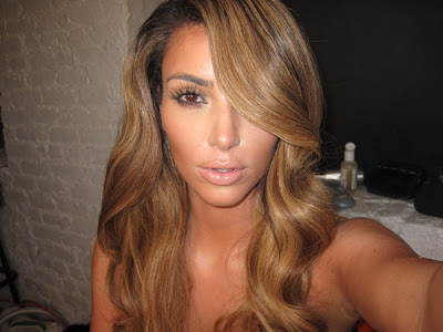 Kim Kardashian Blonde Hair Photos