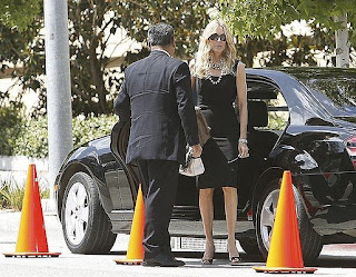 Hot news farrah fawcett funeral photos
