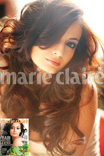 <br />Dia Mirza Marie Claire Photo Shoot