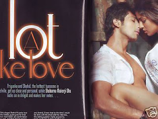 Shahid And Priyanka Shares Cover of Cineblitz