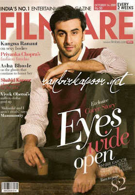 Ranbir Kapoor Filmfare India October
