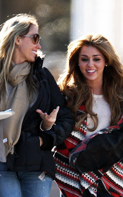 Miley Cyrus With her Mom in New Orlean
