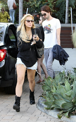 Lindsay Lohan out and about in Malibu (Photo)
