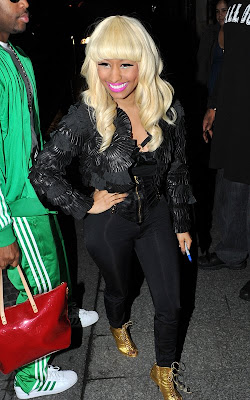 Nicki Minaj arriving at SkyRock FM in Paris