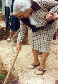 Irena Sendler is planting a memorial tree in Yad Vashem