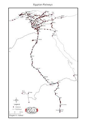 Digital Map Of Egypt Egyptian Railways - Map of upper egypt
