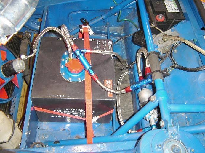 new instal Aéroquip + réservoir FIA essence ATL