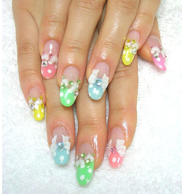 aya1gou+juicy+fruits+nails+3 Great looking nails with ribbons