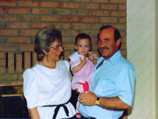 A wee me with my grandma and grandpa!