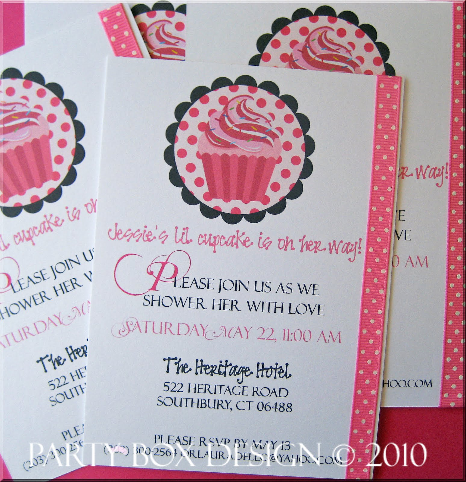 Party Box Design Cupcake Inspired Baby Shower Invites Tags