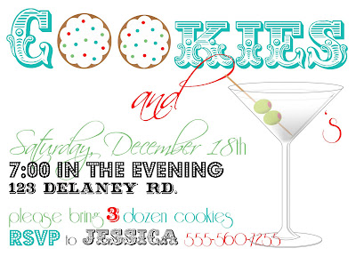 holiday cookie party invite