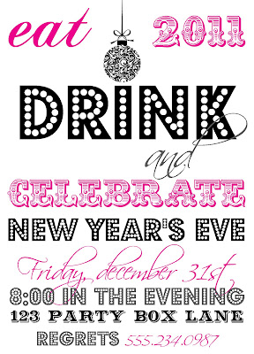 new years eve invite