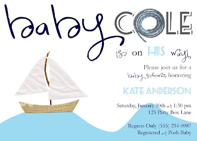 nautical baby shower invite