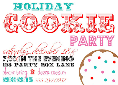 cookie party invites