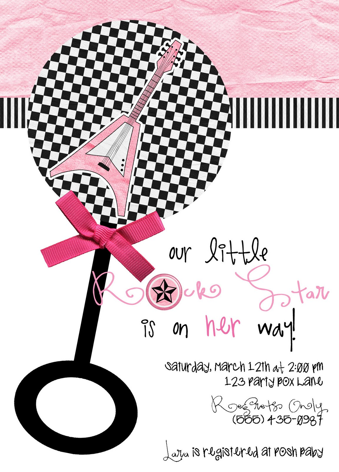 party box design rock star baby shower