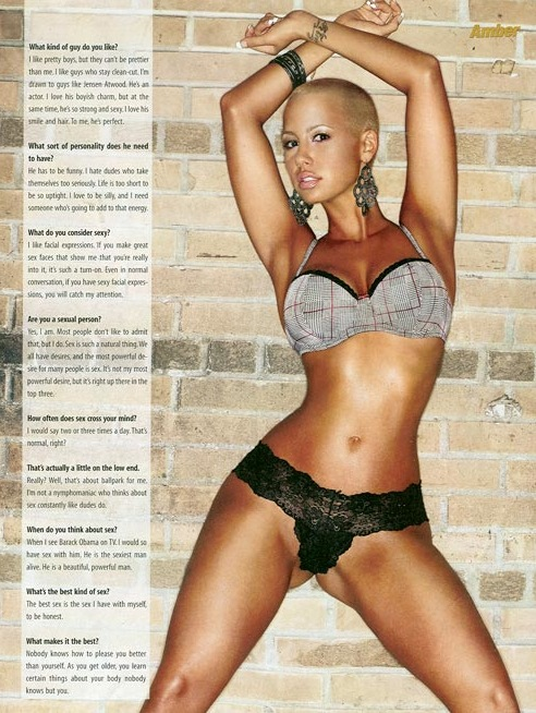 model amber rose with hair. 2010 amber rose model with