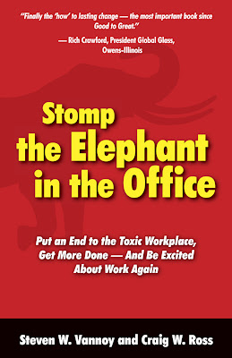 create an eye-catching book cover : Stomp the Elephant in the Office