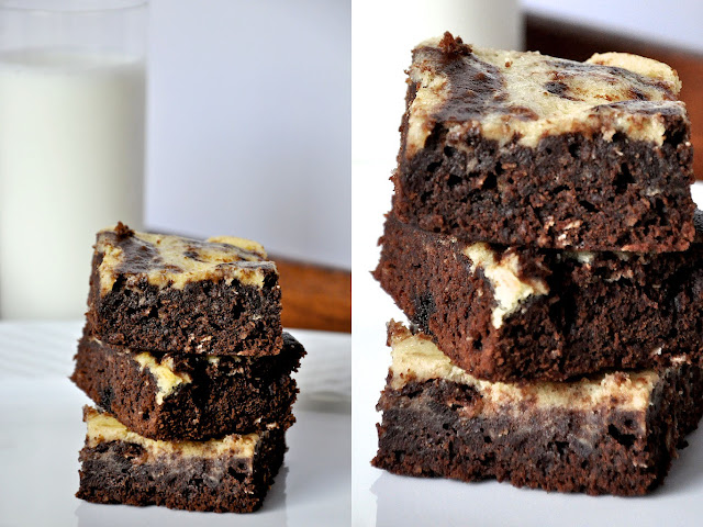 Double+Brownie Cream Cheese Brownies