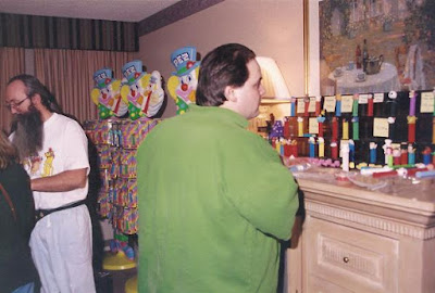 Pez Outlaw - SJ Glew, The biggest Pez Dealer in the world for 5 years in the 1990s. Spent more than 2 million dollars buying over 2 million Pez dispensers. Made over 70 trips to Europe buying Pez, paying bribes and smuggling Pez dispensers. Pez Outlaw had a very big impact on an entire line of Pez Corporate product causing the Pez Color War.  Over 20 Pez Dispensers were produced in direct result of Pez Outlaw activities by Pez Corporation. Distribution procedures in place for decades were altered because of Pez Outlaw Activities. Author of Pez Outlaw Diary.