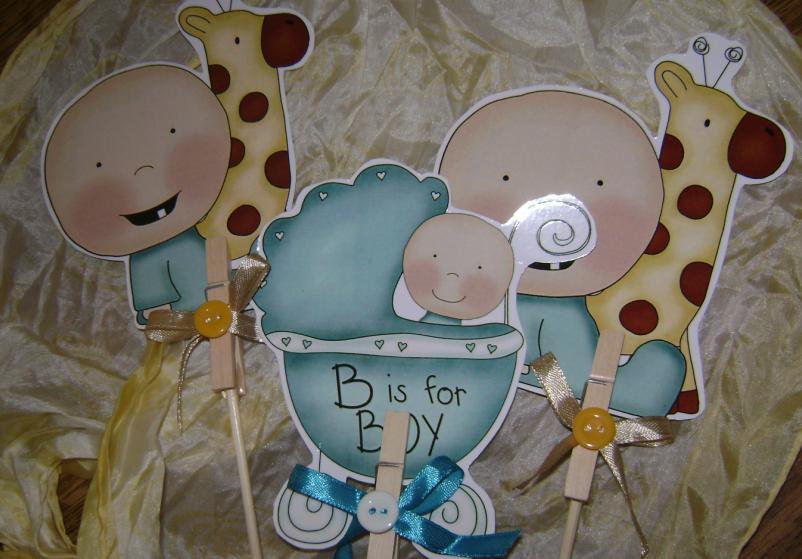 Koquish: 3.Centros de Mesa para Baby Shower
