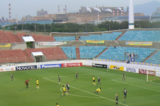 Chunnam and Melbourne in action at Gwangyang Stadium