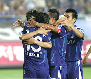 Suwon players in happier days
