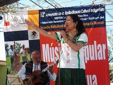 """Aniversario de la Radiodifusora Cultural Indigenista """"La Voz de los Tres Rios"""". Sonora."""