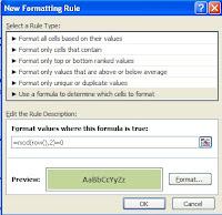 Formatting dialog box