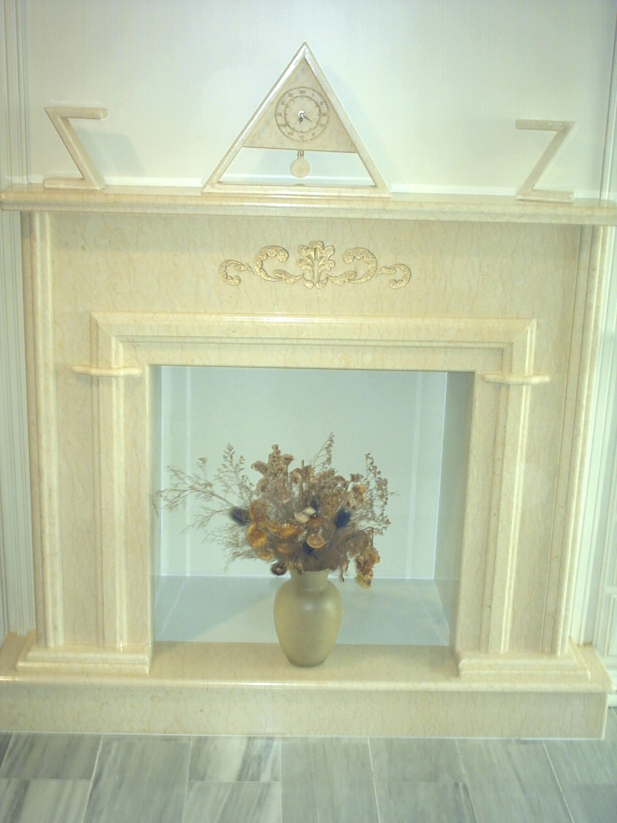 Hnos orellana c b chimenea en marmol silvia - Molduras de marmol ...