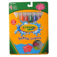 Bathtub Crayons to Capture Ideas in the Shower