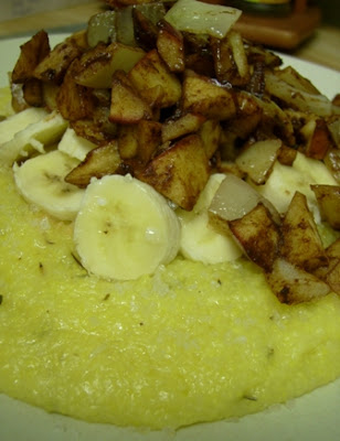 Sweet Apple Rosemary Corn Grits