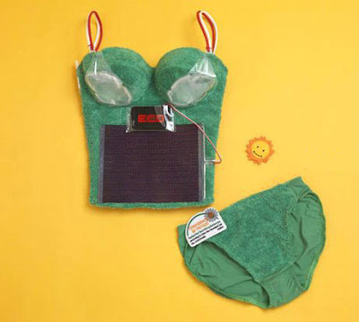 Solar bra from Japan able to charge an iPod'