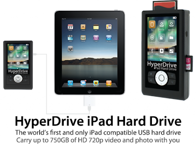 Additional hard drive for iPad