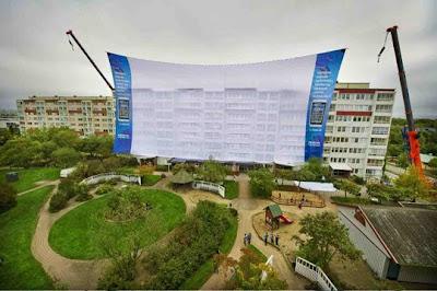 Outdoor cinema Nokia - world's biggest cinema screen
