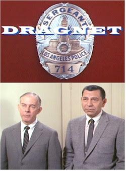 Harry Morgan and Jack Webb as Officer Bill Gannon and Sgt. Joe Friday