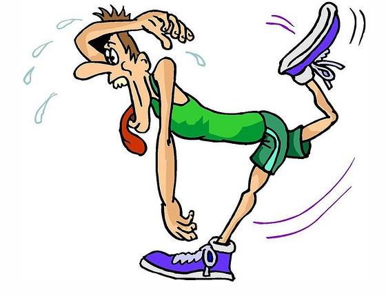 Running Cartoon Marathon to Run a Half Marathon